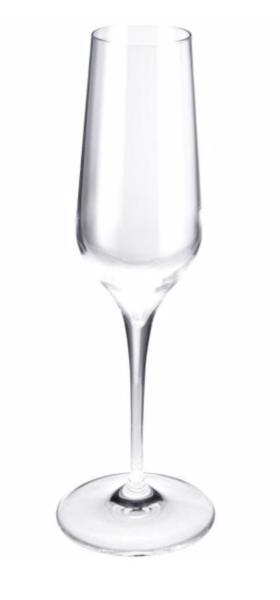 Sektglas mit Eichstrich 0,1