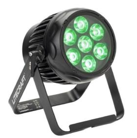 6er Case LITECRAFT BX.7, IP65, Akku LED Outdoor Scheinwerfer